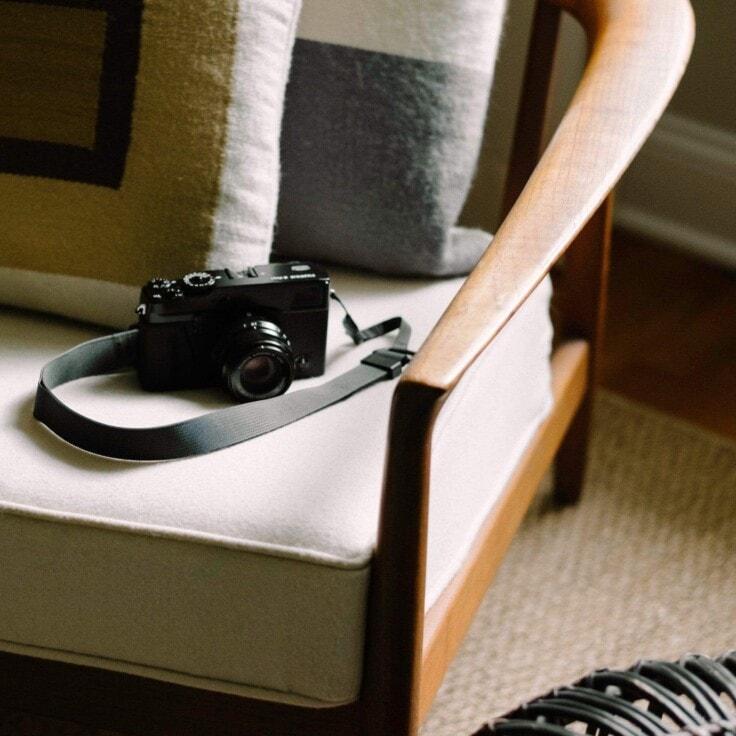 M1a Camera Strap in castor gray, on Fujifilm X-Pro1 with 35mm f/2