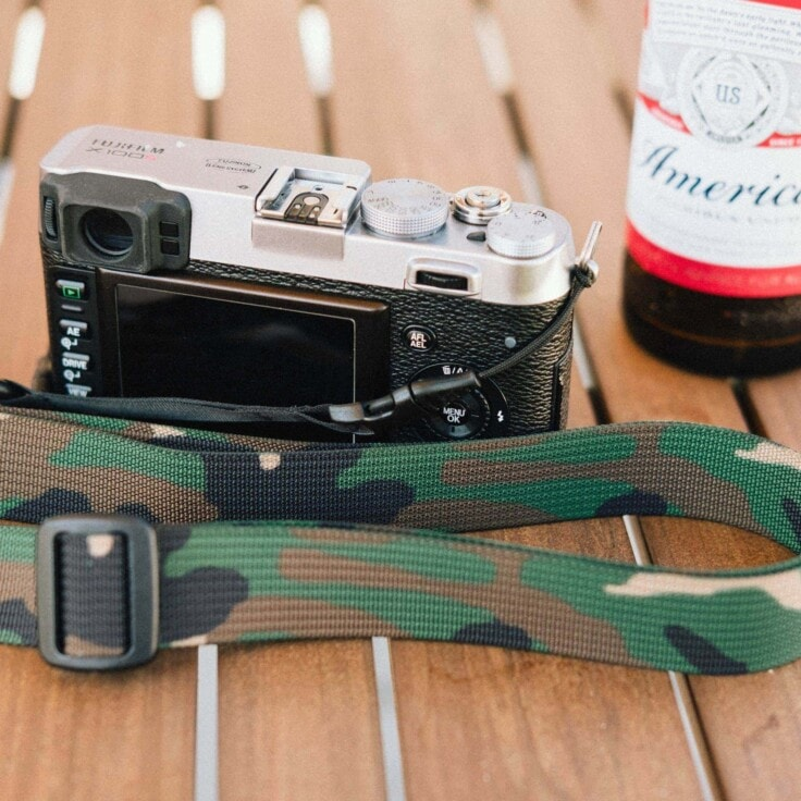 America and Camo look good together! Relaxing with M1a on Fujifilm X100S.