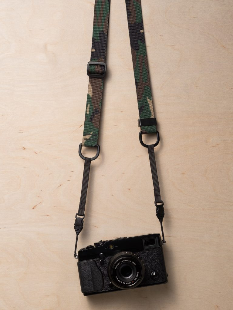 M1a Mirrorless Camera Strap in Classic Camo with Fujica ST701