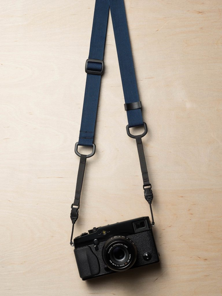 M1a Mirrorless Camera Strap in Navy Blue with Fujifilm X-Pro1