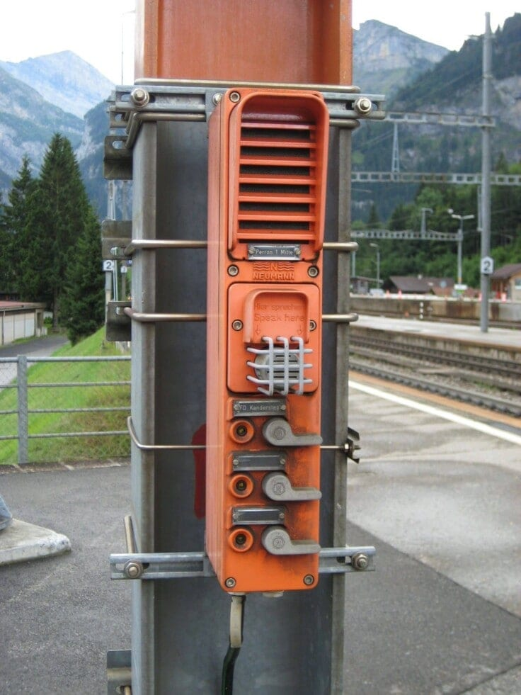 Interphone de train en Suisse
