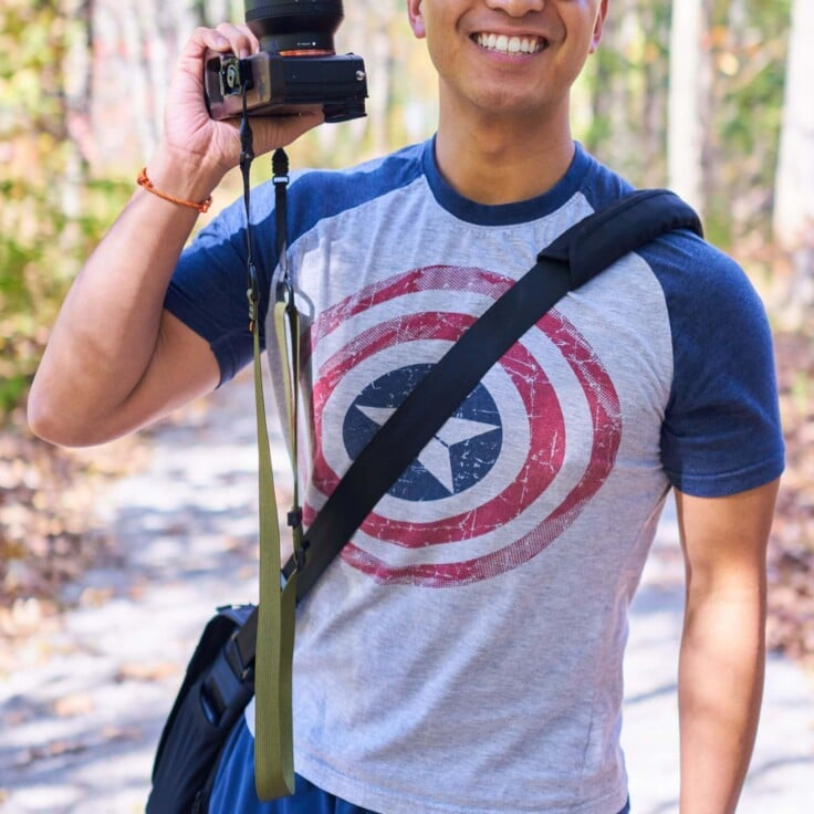 Simplr M1a Mirrorless Camera Strap on Sony Alpha A7RII