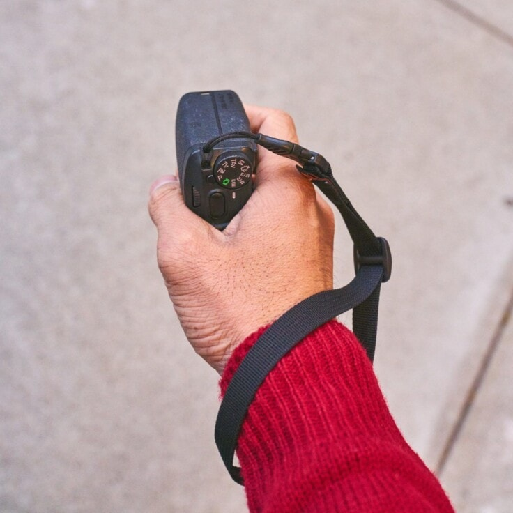 M1w Wrist Strap stays out of the way