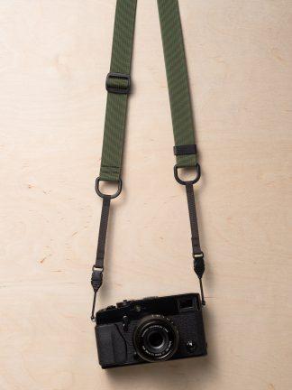 M1a Mirrorless Camera Strap in Camo Green on Fujifilm X-Pro2