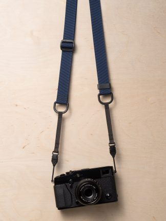 M1a Mirrorless Camera Strap in Navy Blue on Fujifilm X-Pro2