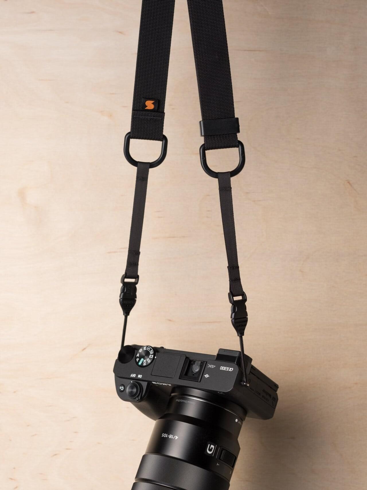 Simplr M1a Mirrorless Camera Strap on Sony Alpha a6300