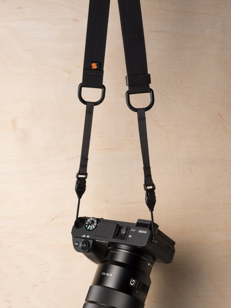 Simplr M1a Mirrorless Camera Strap on Sony Alpha a6300