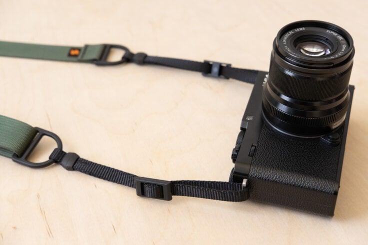 F1 Flat Mount Camera Strap on Fuji X-E4