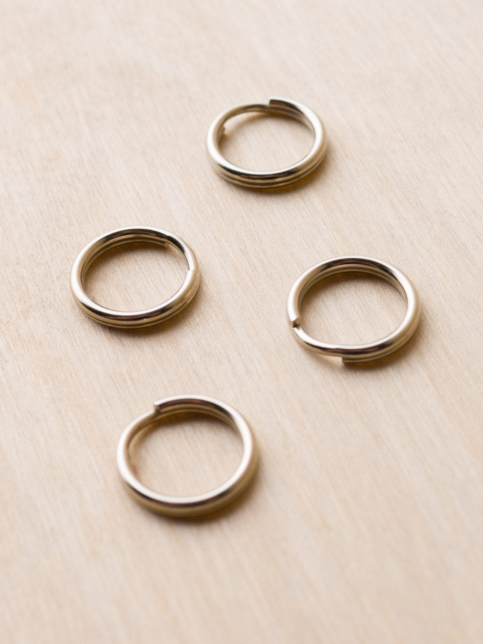 round split rings for camera strap attachment