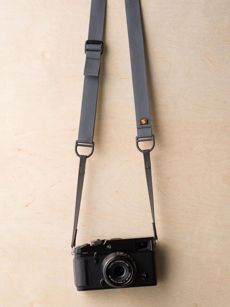 Simplr F1 Camera Strap in Wolf Gray on Fuji X-Pro2