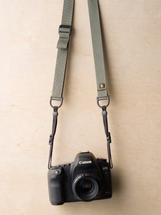 F1 Sling Style Camera Strap on Canon 5D Mk II in Castor Gray