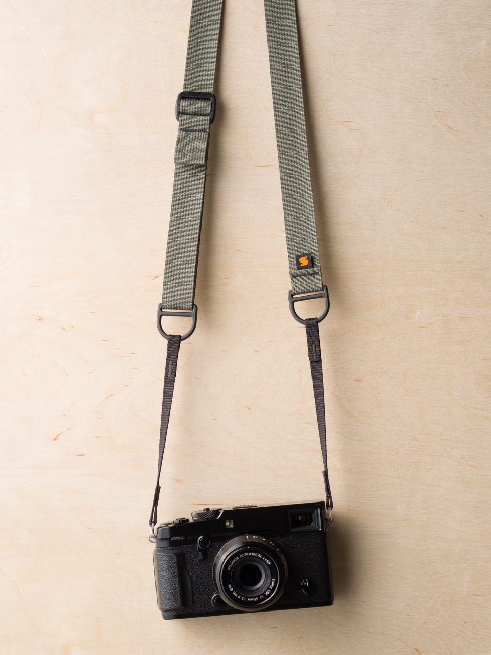 F1 Sling Style Camera Strap on Fuji X-Pro2 in Castor Gray