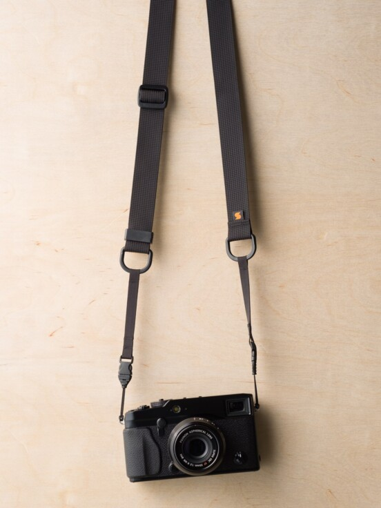 M1ultralight Camera Strap on Fuji X-Pro1 in Black