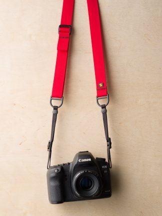 F1 Flat Mount in Red on Canon 5D Mk II