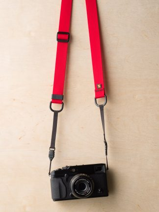 M1a Mirrorless Camera Strap in Red on Fuji X-Pro2