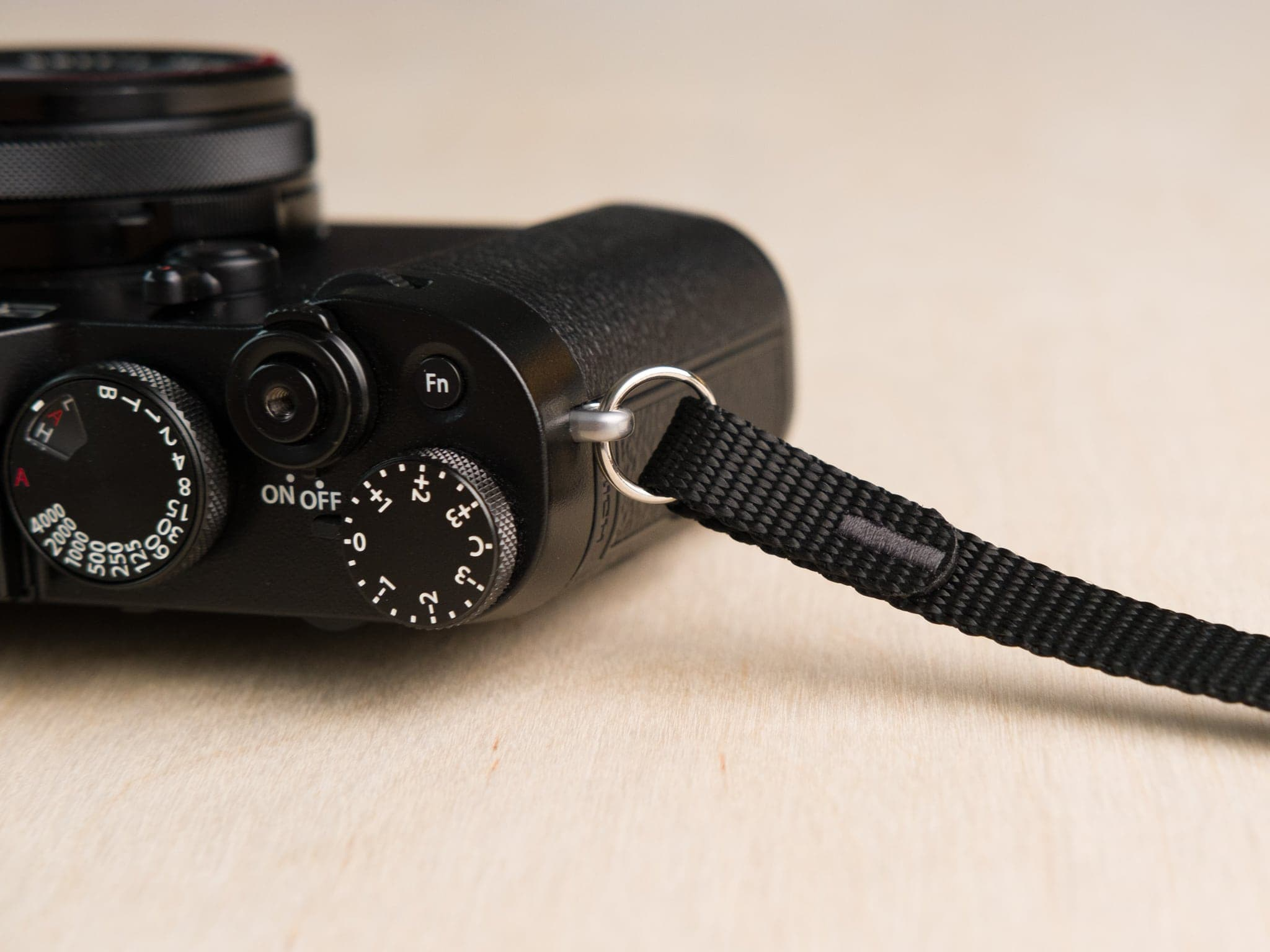 F1 camera strap detail