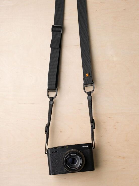 F1 Flat Mount Camera Strap in Black